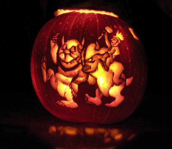 Where the Wild Things Are jack'o'lantern