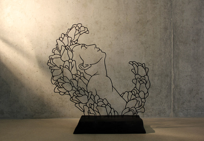 Flora series -- wire sculptures