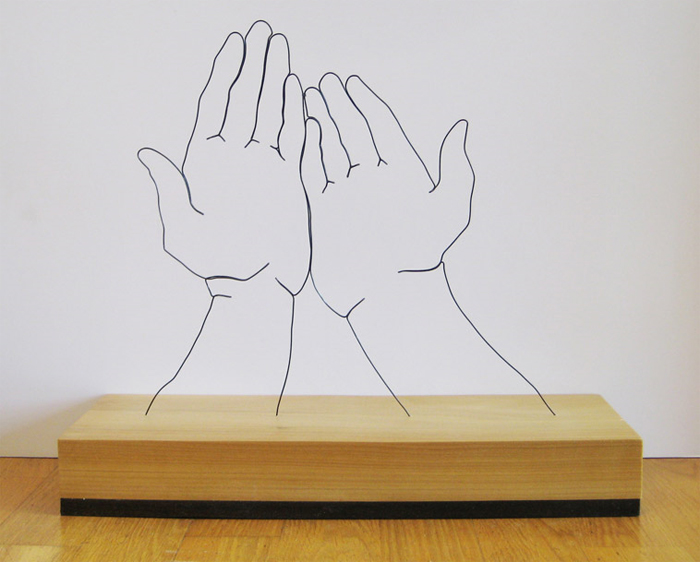 handssupplicated Gavin Worth   Wire Sculptures